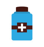 Bottle drug isolated icon Stock Image