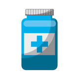 Bottle drug isolated icon Stock Photography
