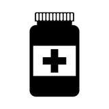 Bottle drug isolated icon Royalty Free Stock Photography
