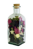 Bottle with dry flowers Royalty Free Stock Photo