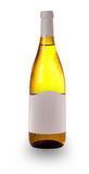 Bottle dry light wine on the white Royalty Free Stock Photo