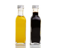 Bottle Duo. Oil and vinegar bottle duo in nice bottles Royalty Free Stock Photo