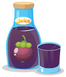 A bottle of eggplant juice Stock Photo