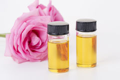 Bottle of essential oil stock images