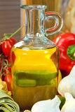 Bottle of Extra Virgin Olive Oil Royalty Free Stock Photo