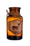 bottle för banavatten för clippingen exponeringsglas isolerad mineralisk white Royaltyfri Foto