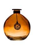 bottle för banavatten för clippingen exponeringsglas isolerad mineralisk white Royaltyfria Foton