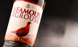 Bottle of The Famous Grouse whisky Royalty Free Stock Photos