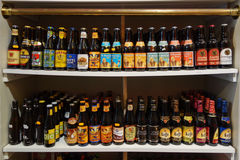 Bottle of fine beer in Brugge Royalty Free Stock Images
