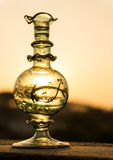 Bottle (flacon) of perfume. Flacon of perfume made out of hand blown and painted glass Stock Image