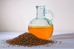 Flaxseed oil Stock Photos