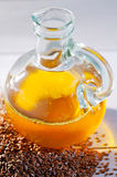 Flaxseed oil Stock Photography