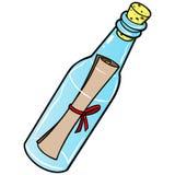 bottle floating message 图库摄影