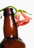 Bottle with flower Royalty Free Stock Photography