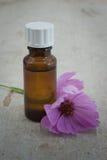 Bottle of Flower Oil Stock Photography