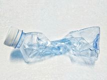Empty plastic bottles of water for recycle on white background Royalty Free Stock Photos