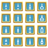 Bottle forms icons azure Stock Images