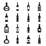 Bottle forms icons set, simple style Stock Photos