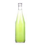 Bottle of fresh lemonade. On white background Royalty Free Stock Photography