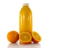 Bottle with fresh orange juice Stock Image