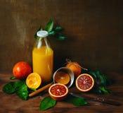 Bottle of Fresh Squeezed Orange Juice Stock Images