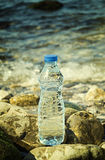 Bottle of the fresh water Stock Image