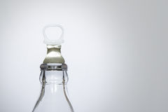 Bottle of fresh water isolated on a white background, Small glass water bottle Royalty Free Stock Image