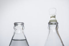 Bottle of fresh water isolated on a white background, Small glass water bottle Royalty Free Stock Photography