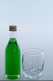 Bottle with glass Stock Photo