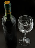 Bottle and glass royalty free stock photos