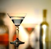 Bottle and glass Royalty Free Stock Images