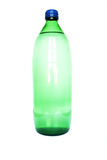 Bottle Glass. Photo of one liter green bottle glass on white background Royalty Free Stock Photos