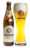 Bottle and glass of Erdinger wheat beer Royalty Free Stock Photo