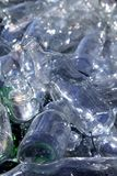 Bottle glass recycle mound pattern Stock Photography
