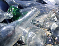 Bottle glass recycle mound pattern Royalty Free Stock Images