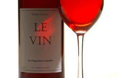 bottle glass red wine Στοκ φωτογραφία με δικαίωμα ελεύθερης χρήσης