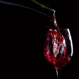 Bottle and glass with red wine Royalty Free Stock Image