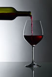 Bottle and glass of red wine Royalty Free Stock Photos