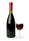 Bottle and glass of red wine Royalty Free Stock Image