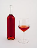 Bottle and glass of rose Royalty Free Stock Photos