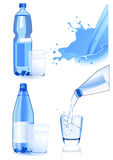 Bottle and glass set Royalty Free Stock Photo