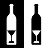 Bottle/glass silhouette Royalty Free Stock Images