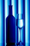 Bottle & glass still life Royalty Free Stock Photography