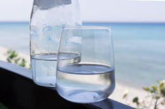Bottle And Glass Of Water Royalty Free Stock Image