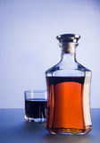 Bottle and glass of whiskey Stock Photography