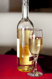 Bottle and glass of white wine Royalty Free Stock Photo