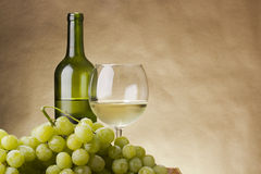Bottle and glass of wine Royalty Free Stock Photos