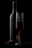 Bottle and glass of wine Royalty Free Stock Image