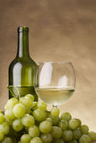 Bottle and glass of wine Stock Photography