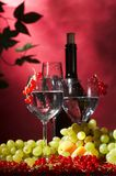 Bottle and glass of wine Royalty Free Stock Images